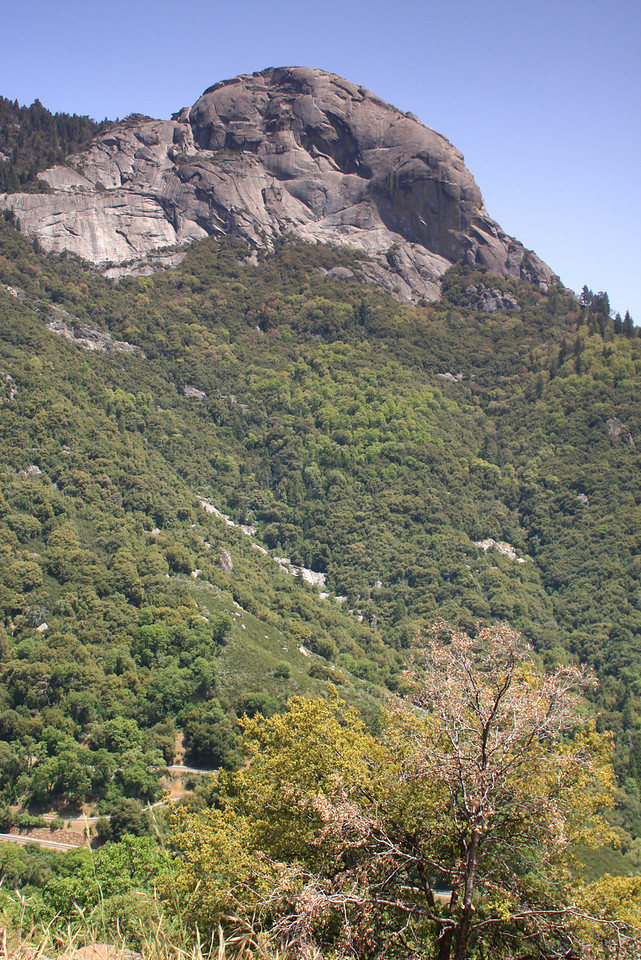 The switchbacked road entering Sequoia NP is seen in the bottom left corner.