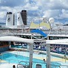 Pool Area - Deck 11. Docked next to us in St Maarten was HAL ship Noordam