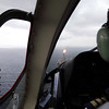 Helicopter flight to oil production platform