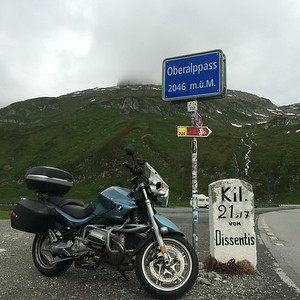 Oberalppas was a lot of fun.  Weather was good, and I could actually see where I was going!