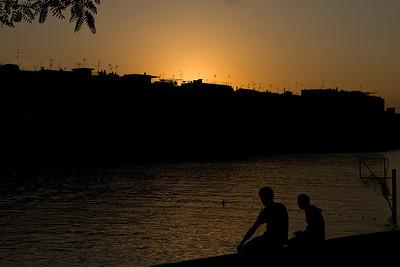 Sunset over the Guadalquivir