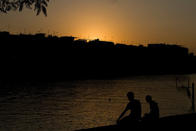 Sunset over the Guadalquivir, Seville