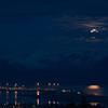 Moonrise over Homer.