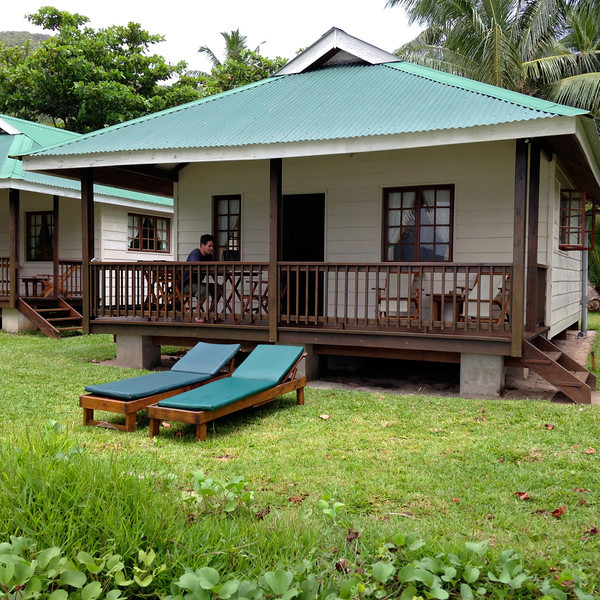 Our little bungalow at Illes de Palmes in Praslin