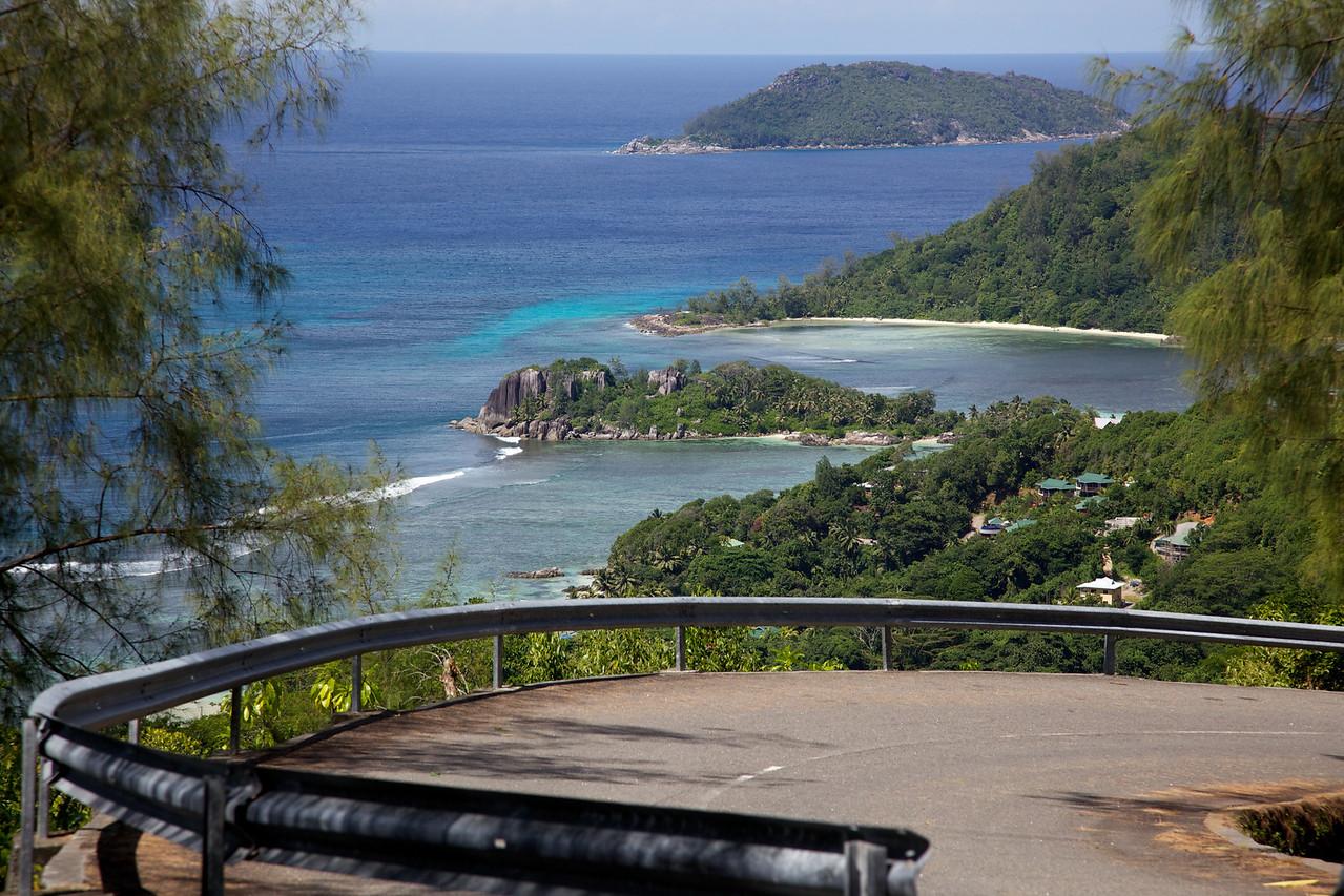 Super curvy and steep roads around Mahé