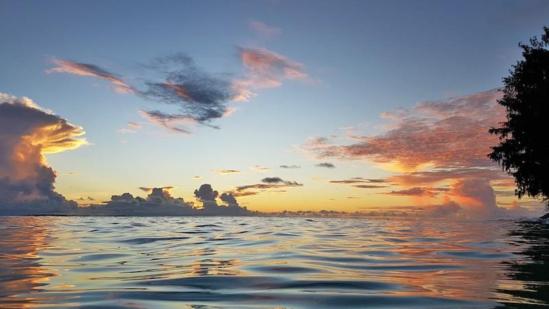 Seychelles - Sunset from Praslin