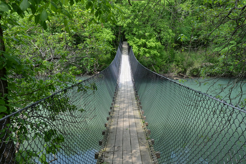 Swinging Bridge at Sgt. Alvin C. York State Park, TN