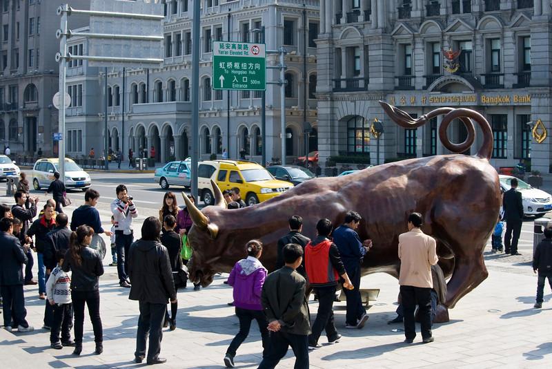 Bull statue on the Bund