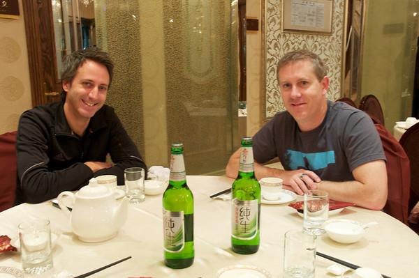 Having Tsing Tao with Daniel and Chris