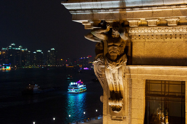 Rooftop views from a high end bar on the Bund