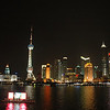 Shanghai at night, from the Bund