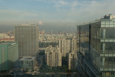 View of the smog from the hotel room