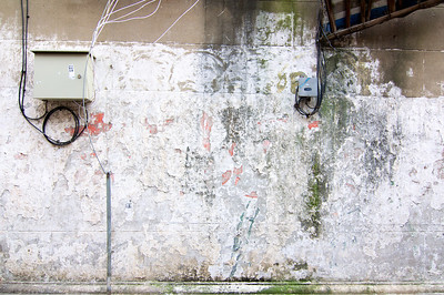 Xiaonanmen, Shanghai: You can see the remains of a communist era painting on the wall.