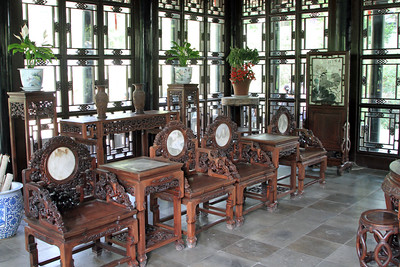 Suzhou - Interior of building within Humble Administrator's Garden.