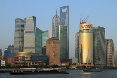 Commercial buildings of Pudong, Shanghai.