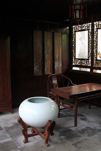 Suzhou - Interior of building within The Master of the Nets garden.