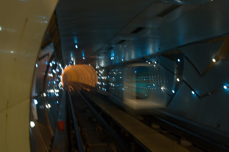 Seizure-inducing train ride under the Huangpu River