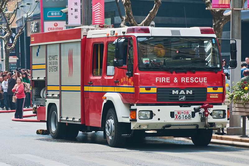 Shanghai obviously makes an effort to portray an image of nothing but the very best, even when it comes to fire fighting equipment.