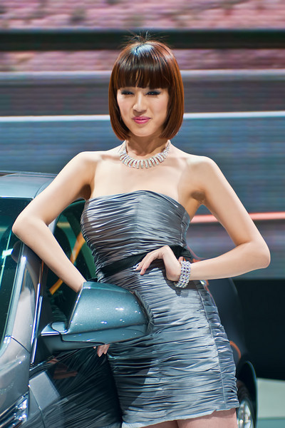 In China, Auto Shows are known almost as much for their female show models as for their car models.