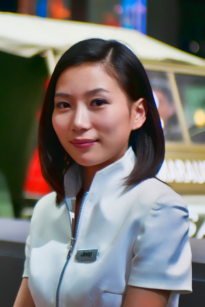 Jeep Receptionist at the Shanghai Auto Show 2011