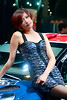 A bit of a dreamy look form this model at the Shanghai Auto Show 2011