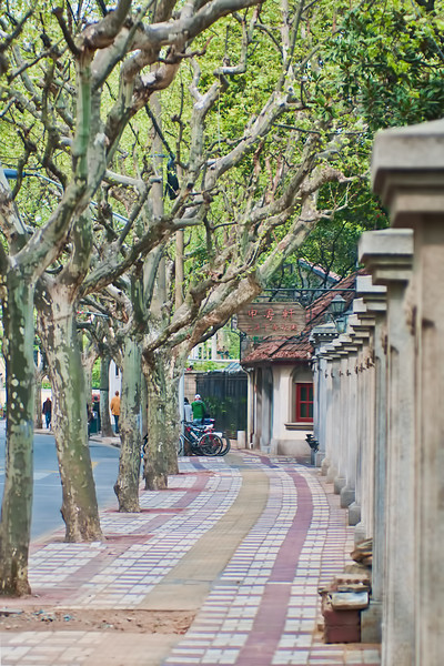 The French Concession is an old quarter of Shanghai that has a strong European heritage left over from the heyday of foreign activities in Shanghai.  The city has done much to preserve the feel of this old European part of the city.