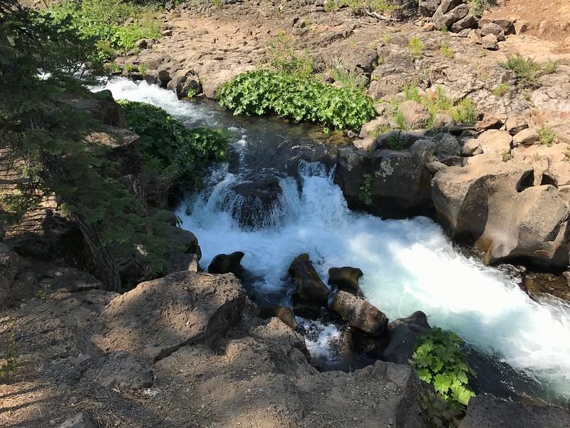 Top of Upper McCloud Falls