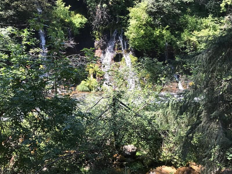 Small waterfall into the creek