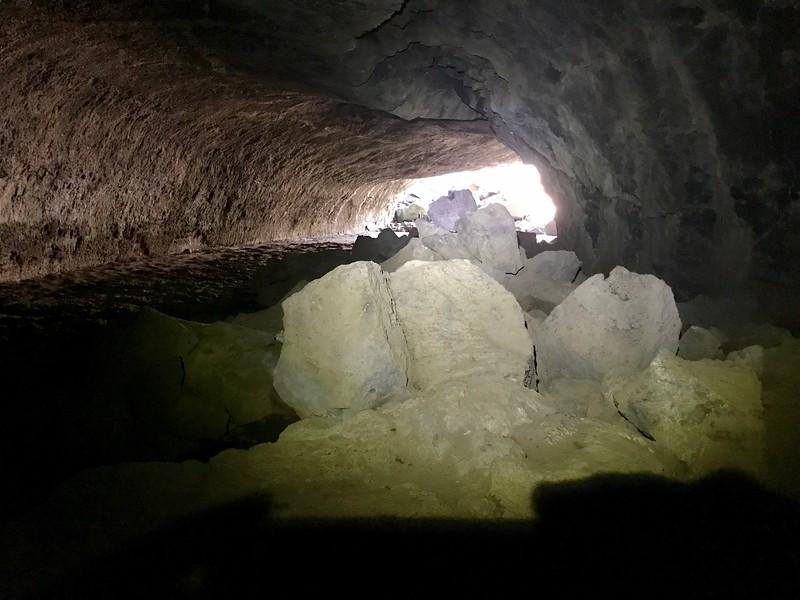 Rockfall near the Subway Cave exit