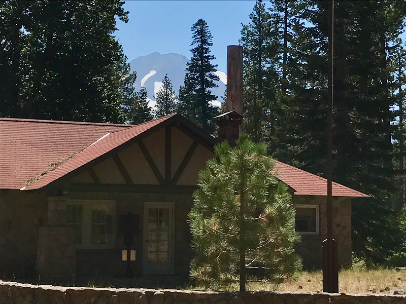 Mt lLassen from the Loomis Museum complex