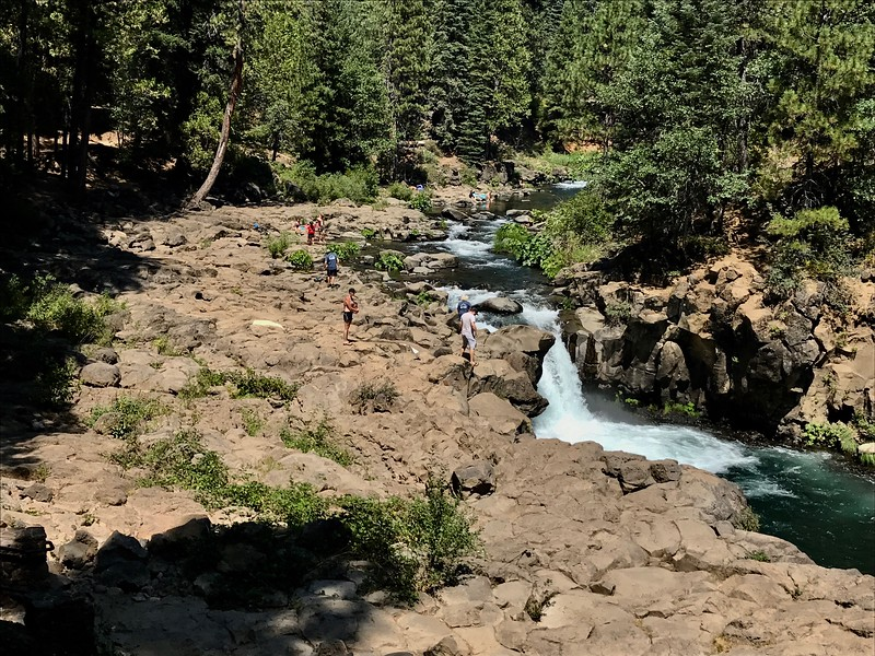 Activity at the Lower Falls