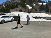 Snow bank covering the southern portion of the the parking lot for the Mt lLassen trail (at about 8500 feet)