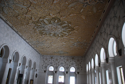 Part of the intricate ceiling in the North Prayer room.