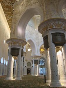 Interior of the main prayer hall.
