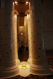 Interior columns of the prayer hall.