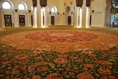 Part of the handmade carpet.