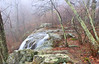Dark Hollow Falls consists of 2 falls.  The upper is my favorite.  Today I visited only the upper falls.  I had visited the lower falls last summer.  I have a picture of this later in the gallery.  The fog and saturated colors caused by the rain were breath taking.