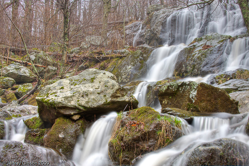 Rain and heavy fog allowed me to capture some terrific shots at Dark Hollow Falls.  This is the closest falls to the main road in Shenandoah.  Because of the weather, I concentrated on this in case I had to get back to the shelter of my car.  I was still a good half mile from shelter.