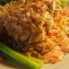 Yellow Brick Bank restaurant - Jumbo lump crab cakes with asparagus