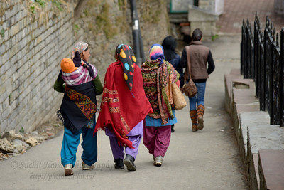 Streets of Shimla. Shimla is the capital city of the Indian state of Himachal Pradesh, located in northern India at an elevation of 7,200 ft. Due to its weather and view it attracts many tourists. It is also the former capital of the British Raj.
