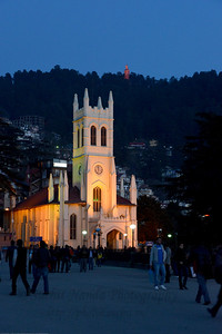 St. Michael's Cathedral has a cruciform design and fine stained glass décor. Located just off the Mall, below the District Courts, the cathedral is a place to revel in. Shimla is the capital city of the Indian state of Himachal Pradesh, located in northern India at an elevation of 7,200 ft. Due to its weather and view it attracts many tourists. It is also the former capital of the British Raj.