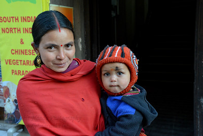 Mother and son at , Shimla, Himachal Pradesh, India