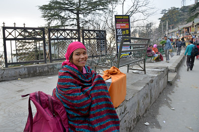 This lady was carrying a TV on her back! Shimla is the capital city of the Indian state of Himachal Pradesh, located in northern India at an elevation of 7,200 ft. Due to its weather and view it attracts many tourists. It is also the former capital of the British Raj.