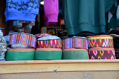 Caps, sweaters and other clothing on sale at, Shimla, Himachal Pradesh, India