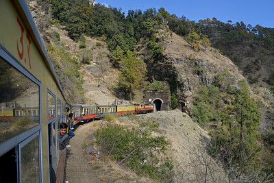 The Kalka–Shimla Railway is a 2 ft 6 in (762 mm) narrow gauge railway in North-West India travelling along a mostly mountainous route from Kalka to Shimla. Dramatic views of the hills and surrounding villages are seen enroute. Shimla, Himachal Pradesh, India