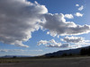 Clouds on a winter day over Shoshone