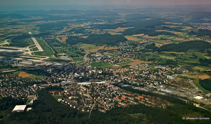 Taking off from Zurich airport