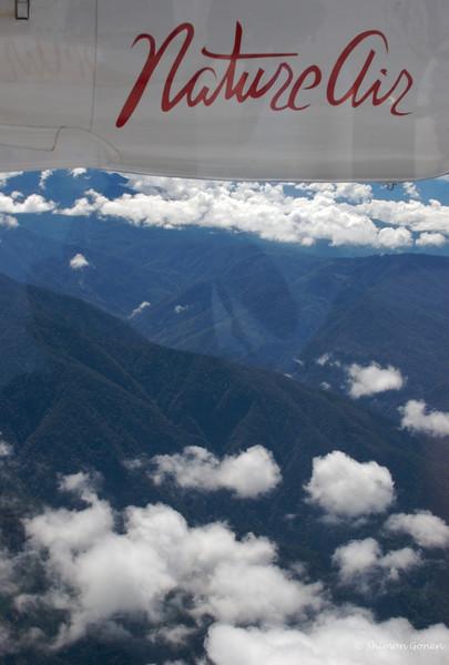 Prop plane flying to Oso Peninsula, Costa Rica