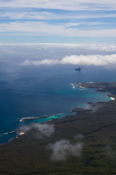 Flying into San Cristobal Island, Galapagos