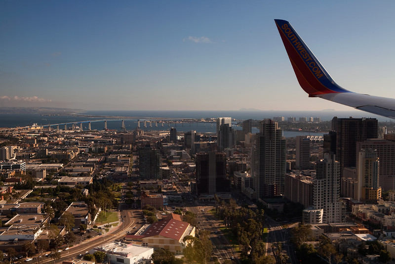 Over downtown San Diego